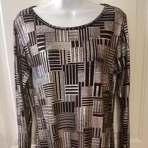 Lularoe Elegant Debbie black and silver dress M